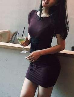RIBBED CORSET DRESS