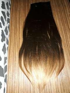 hairklip panjang coklat