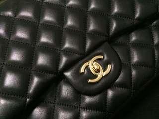 🚚 🎀Authentic Chanel Lambskin Jumbo GHW🎀