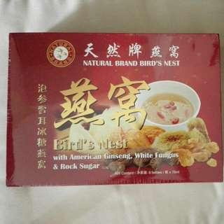 Brand New Natural Brand Bird Nest With American Ginseng, White Fungus And Rock Sugar 6 Bottles X 70ml Per Box