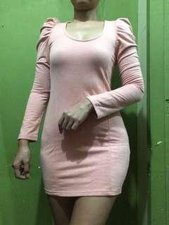 Peach long sleeved dress