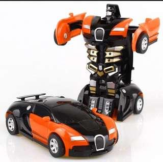 PO Brand New Transformable Robot Pull Back Cars