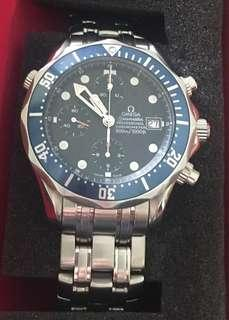 Authenticated Omega Seamaster Professional Chronograph Blue Wave Dial