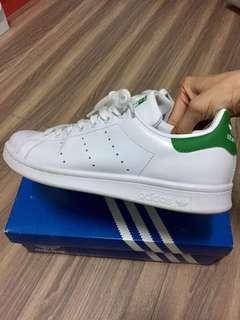 🚚 Adidas original stan smith 綠尾 皮革 運動休閒鞋