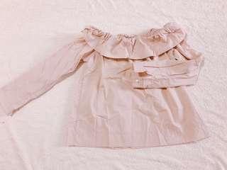 豆沙色 粉色 乾燥玫瑰色 上衣