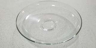 Big glass plate
