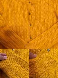 韓國 安格拉羊毛麻花針織外套-黃-F