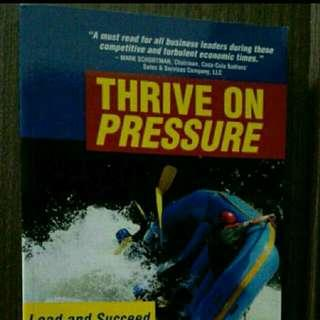 Brand new Book Title Thrive On Pressure By Graham Jones