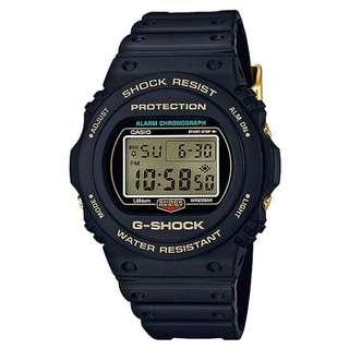 LIMITED EDITION 35th Anniversary DW5735D Casio Black Gold with FREE DELIVERY 100% Authentic G-Shock