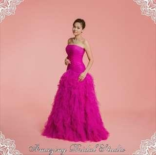 Magenta Purple Evening Dress 紫色晚裝