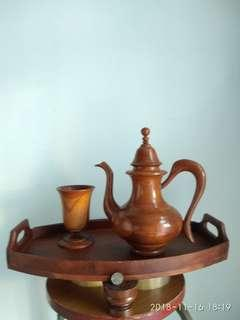 Vantage wood Teapot & woodcup only. 2 for $32