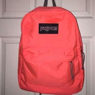Authentic Jansport bagpack pink orange neon