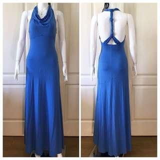 NC092 knot cross-back maxi dress