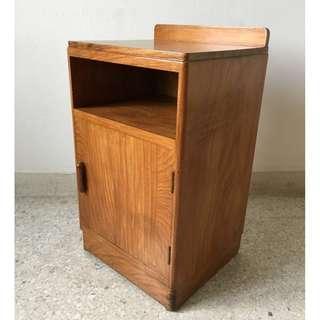 Vintage Burmese Teak Wood Bedside Cabinet