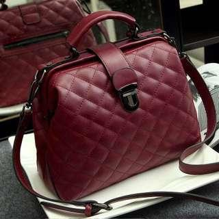 Quilted leather bag chanel gucci style handbag big office work hand bag trendy large spacious tote bag middle age mature fashionable bag vintage women woman