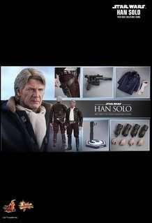 *MISB* Hot Toys STAR WARS: THE FORCE AWAKENS HAN SOLO