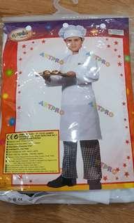 Preloved.no defect, cuma dipake 1,5jam aja k skolah. Chef kids costume. Unisex