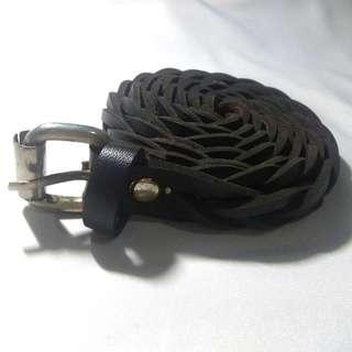 Braided Brown Black Belt