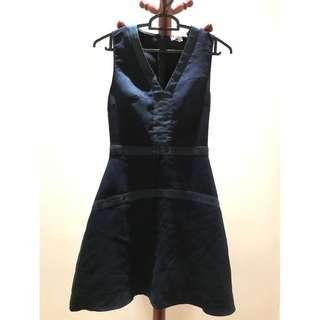 LB Navy Blue Suede Short Dress