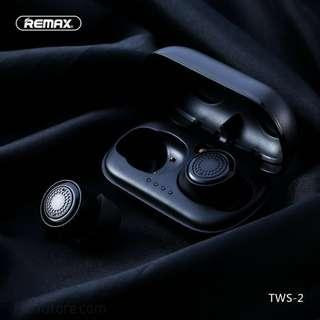 🚚 REMAX TWS-2 Wireless Headset Bluetooth Earpieces Earbuds Twins Earphone With Charging Box
