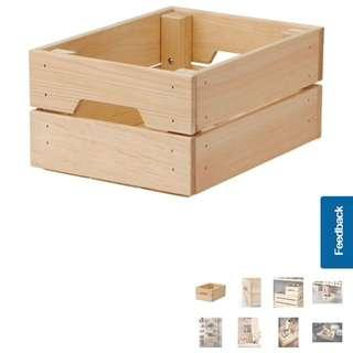 IKEA knagglig crate storage box container wood pine