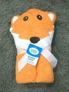 NEW Luvable Friends Fox Hooded Towel