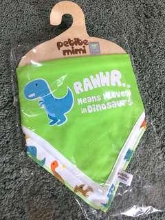NEW - Petite mimi dinosaurs bibs 2 pcs
