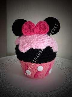 🎄 Crochet Disney Cupcake (Minnie)