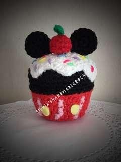 🎄 Crochet Disney Cupcake (Mickey)