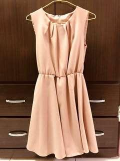🚚 毛料洋裝(附腰帶)