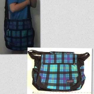 Original Jansport messenger bag plaid
