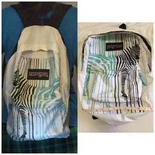 Original Jansport Zebra Backpack