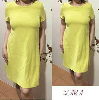 Zara Yellow Shift Dress
