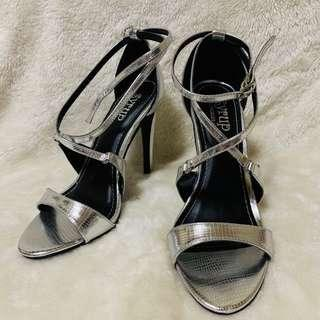 People are People Syrup Silver High Heel Shoes