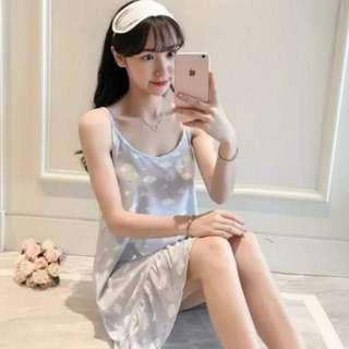 🚚 *Instock* Blue clouds korean style pyjamas homewear nightdress sleep wear