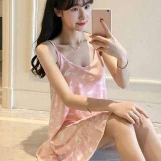 🚚 *Ready stock* Pink clouds korean style pyjamas nightwear sleepdress casuals