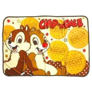 🚚 正版授權 日本 迪士尼 CHIP AND DALE 奇奇蒂蒂 小毛毯 刷毛毯 懶人毯 毛毯 70*100cm