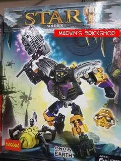 DECOOL 10668 BIONICLE Star Soldier ONUA MASTER OF EARTH