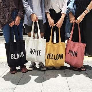 🚚 Plain Canvas Tote Bag #single11