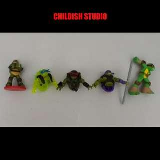 Original TEENAGE MUTANT NINJA TURTLES mini figure 3.5 inch.