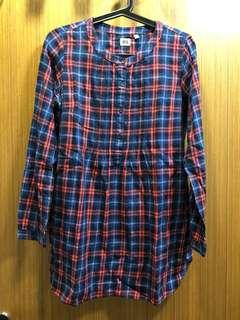 Uniqlo Women Flannel Shirt Dress