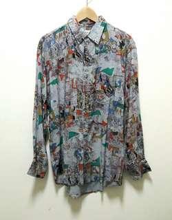 🚚 🔥古著 長袖 襯衫 上衣 休閒 百搭 稀有 老品 復古 Vintage