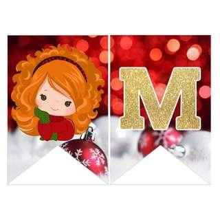🚚 Bunting Banner - Merry Christmas