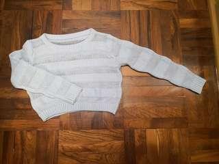 淺藍短身冷衫