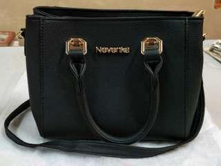 Nevenka Leisure Sling Bag Cartoon Cat Pattern PU Leather Lady Fashion Bag