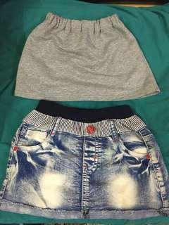 🚚 灰色棉裙/牛仔裙
