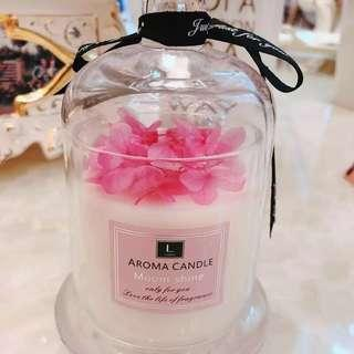 Bell shaped candle with preserved flower 🌸