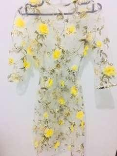 Dress Pesta Flower + lantorso dalaman