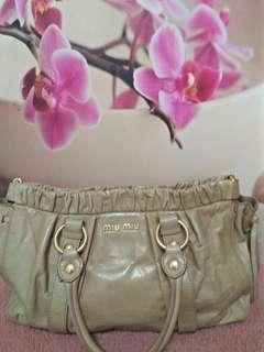 Authentic Miu Miu Leather Bag