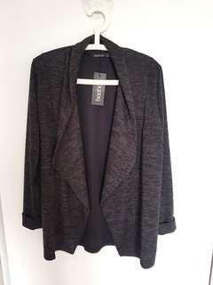 Boohoo Grey Marle Blazer/Coatigan